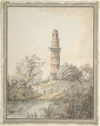 Tower among ruins, Gaur (Bengal)